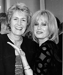 Carole Massey artist with Joanna Lumley